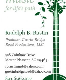 Rustin business card